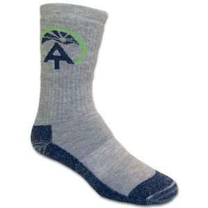 Merino Wool Outdoor Crew Sock w/Knit In Design
