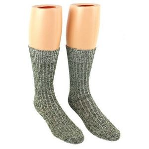 Men's Grey Thermal Merino Wool Crew Socks - 2-Pack