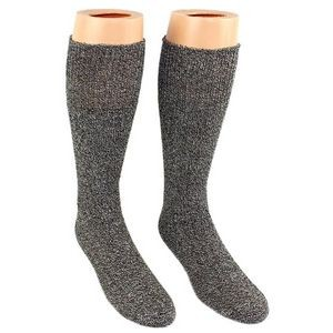 Men's Grey Heavy Thermal Merino Wool Boot Socks - 2-Pack