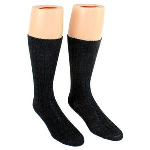 Men's Charcoal Grey Thermal Merino Wool Crew Socks - 2-Pack