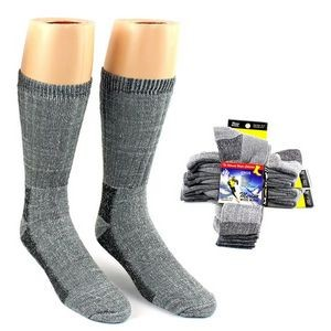 Mens' Thermal Merino Wool Sport Socks - 2-Pack - Size 10-13